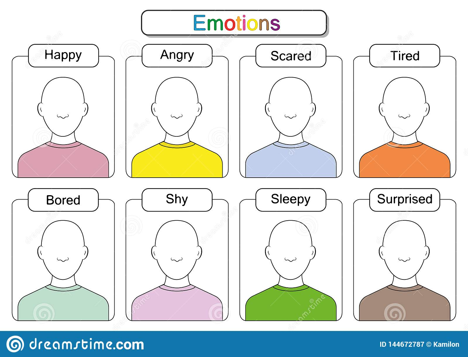 Children Are Learning Emotions, Draw The Faces, Draw The ...