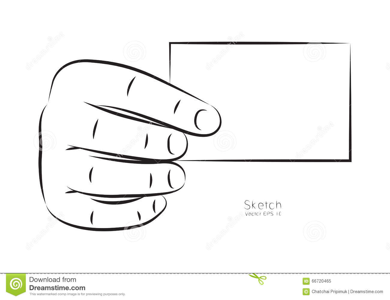 draw hand and business card vector stock vector illustration of rh dreamstime com free small clipart for business cards download clipart for business cards