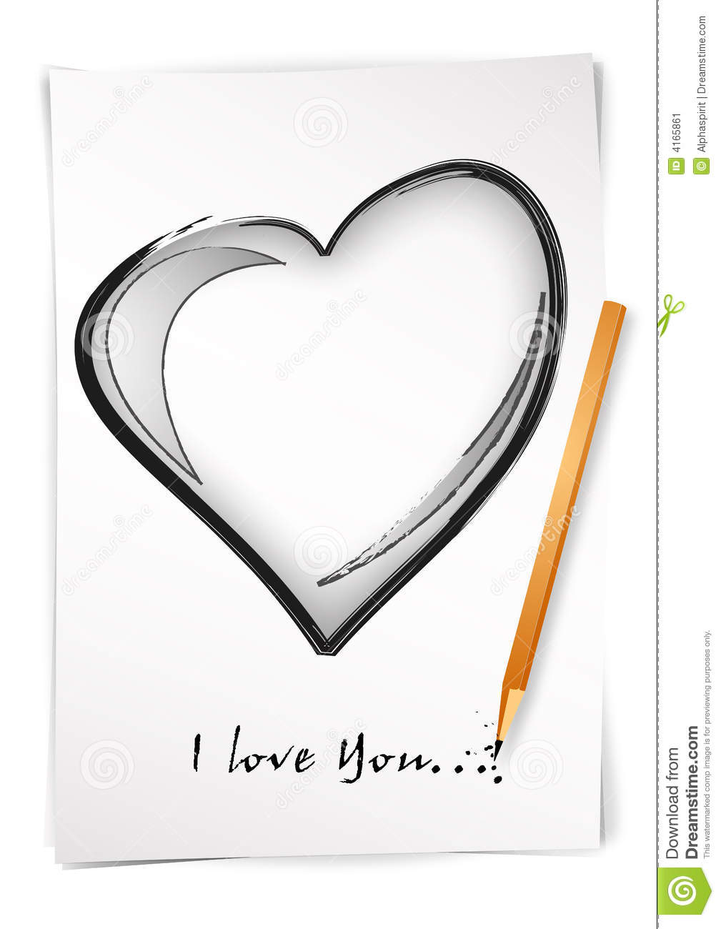 I Love You Drawings: Draw I Love You Stock Vector. Illustration Of Love