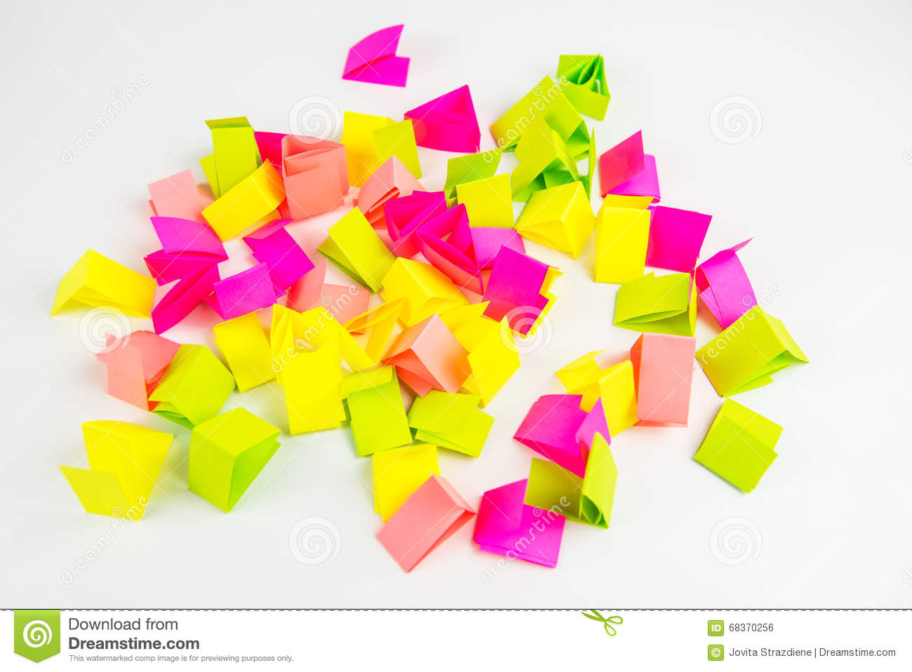 Draw Lots Stock Photo Image Of Cutted Colorful Notepaper 68370256