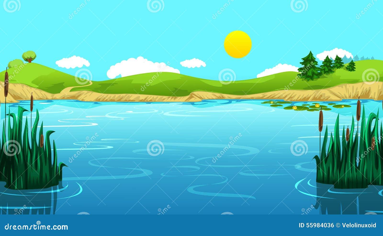 Draw schöne Seelandschaft