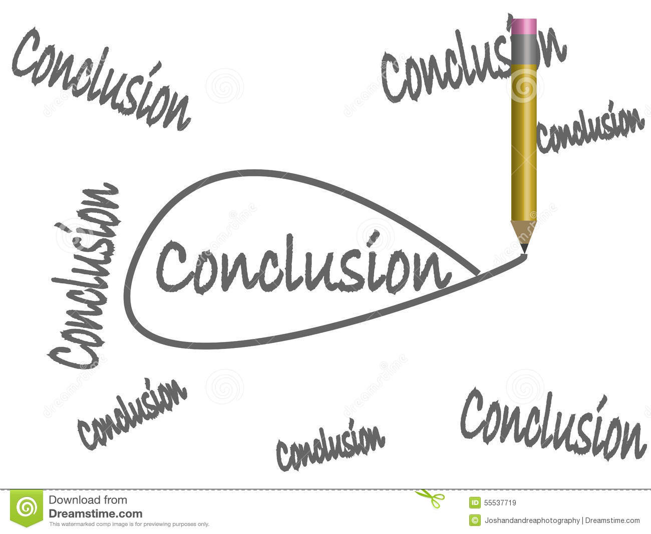 draw your own conclusions stock vector illustration of critical