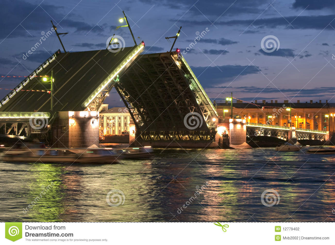 Drawbridge Of Sankt Peterburg Stock Photography Image