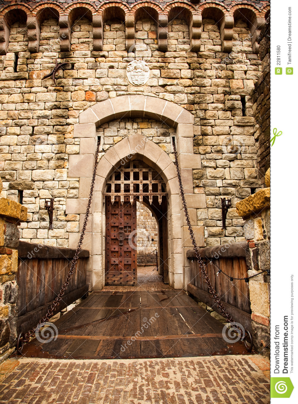 Drawbridge To Castle Door Stock Photo Image Of Calistoga