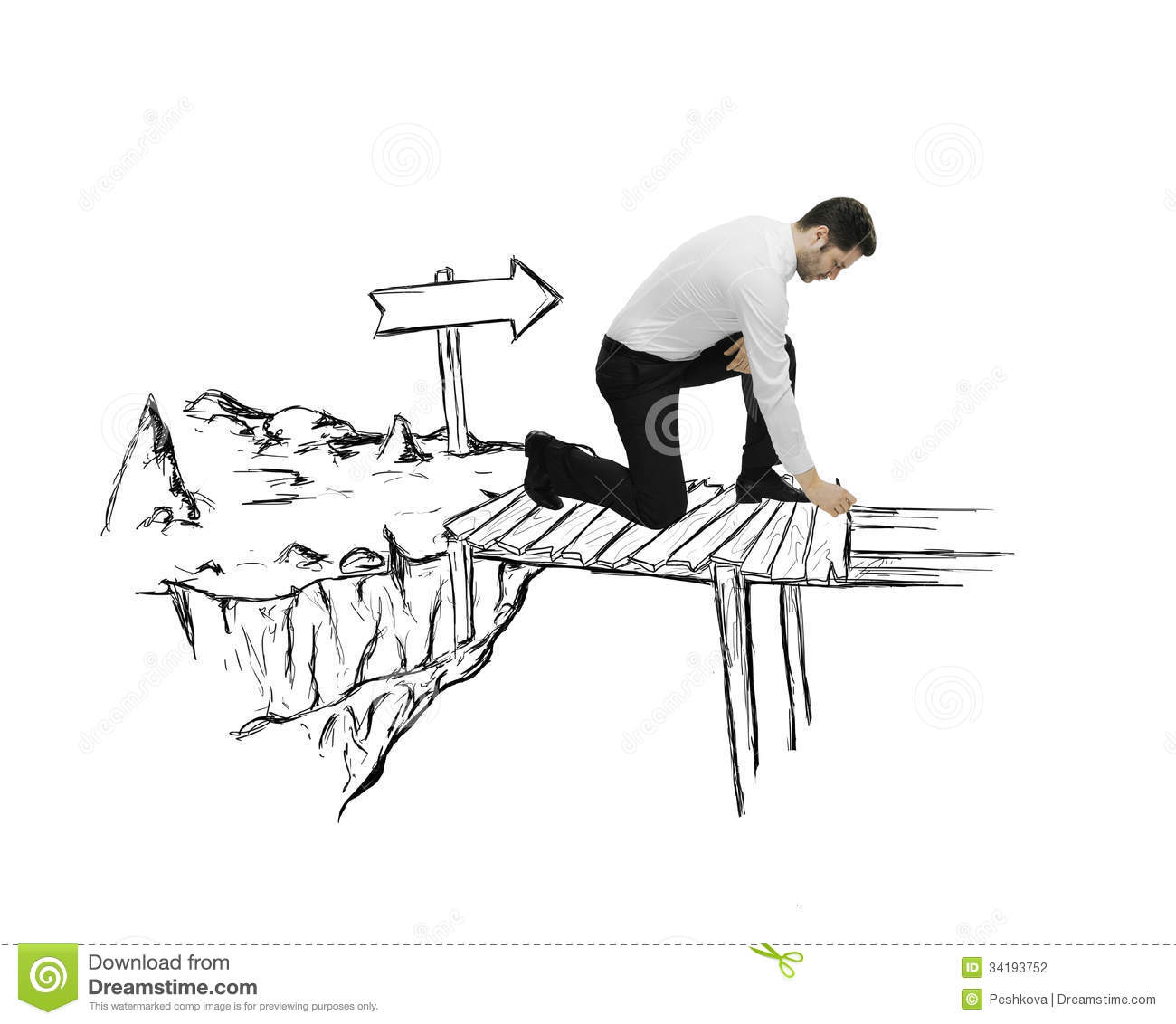 Drawing abstract bridge stock photo. Image of abyss ...