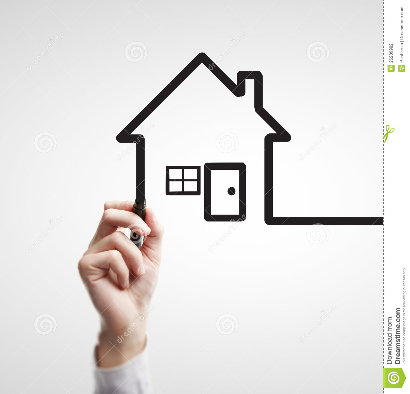 Drawing Abstract House Stock Photography Image 26209982
