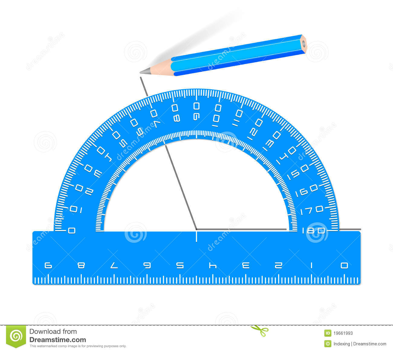 how to use a protractor to draw angles
