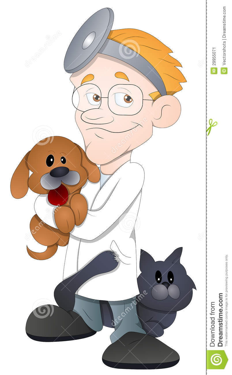 animal doctor   cartoon character   vector illustration
