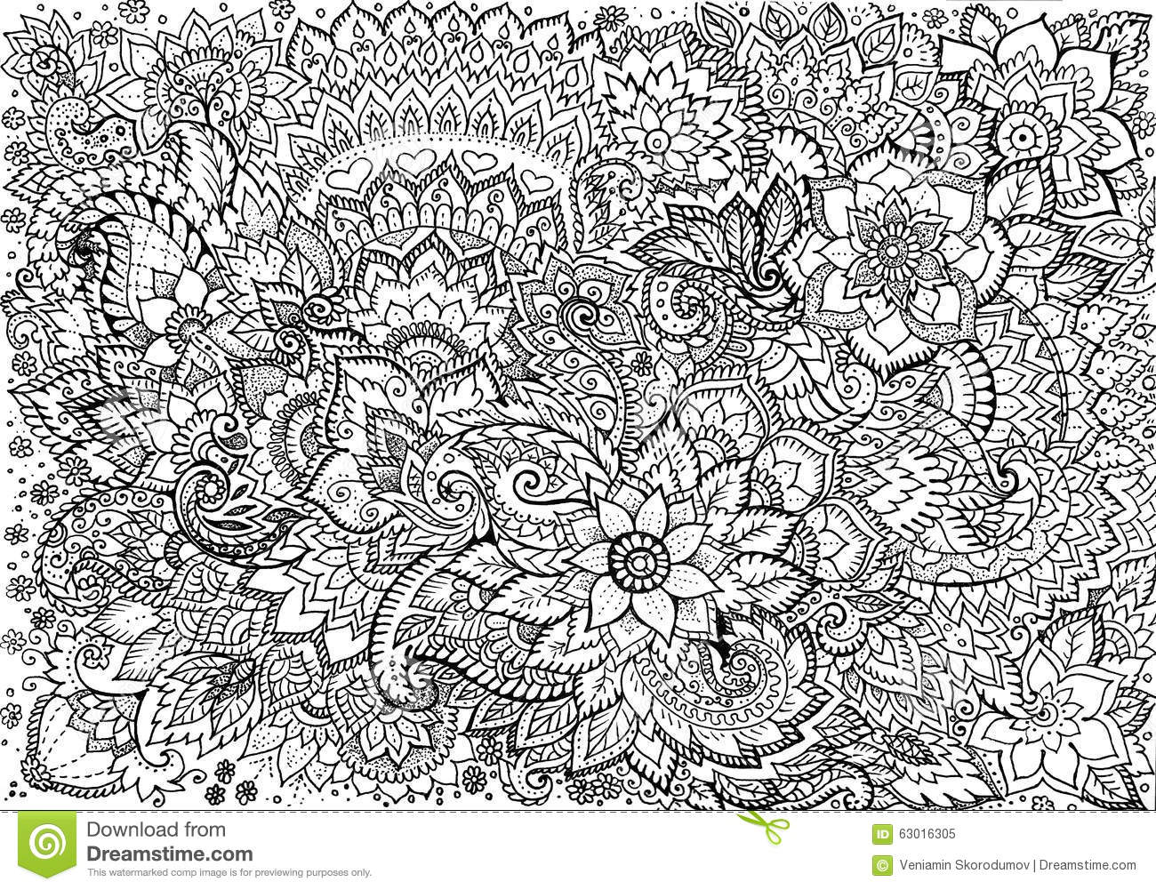 Drawing Background Floral Patterns Stock Illustration - Image 63016305