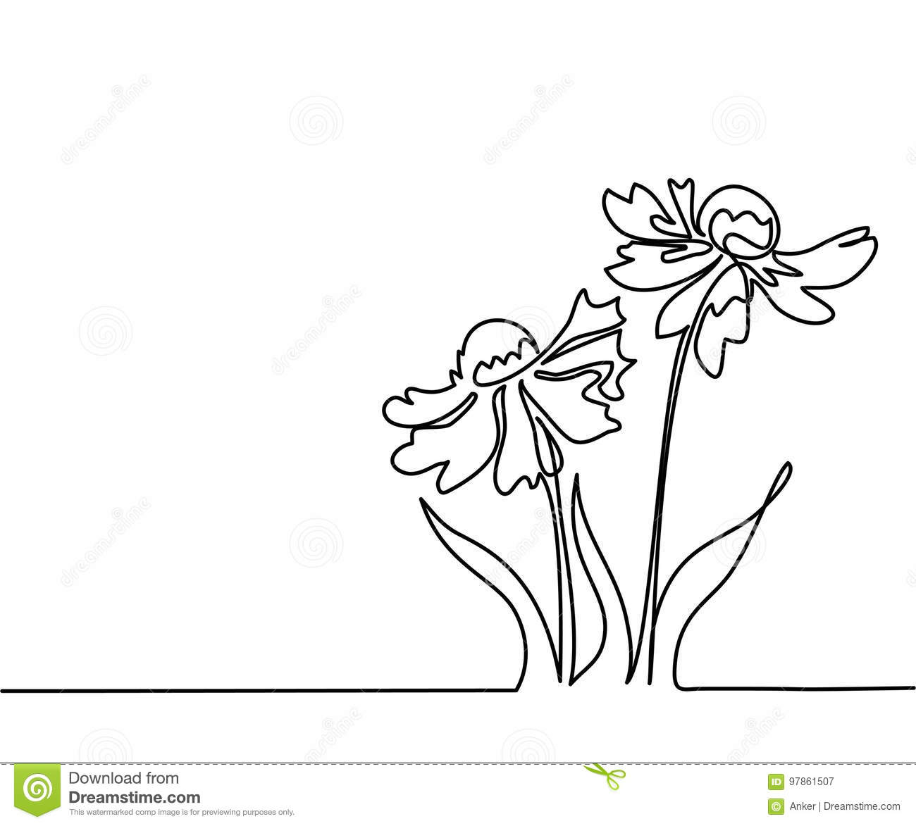 Drawing Of Beautiful Flower Stock Vector Illustration Of