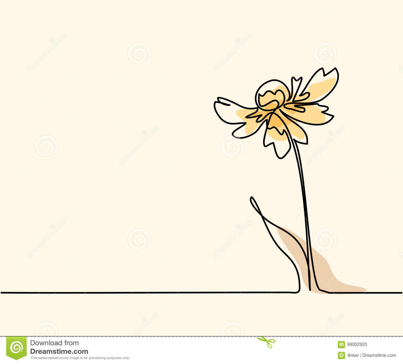 Drawing Of Beautiful Flower Stock Vector Illustration Of Blossom