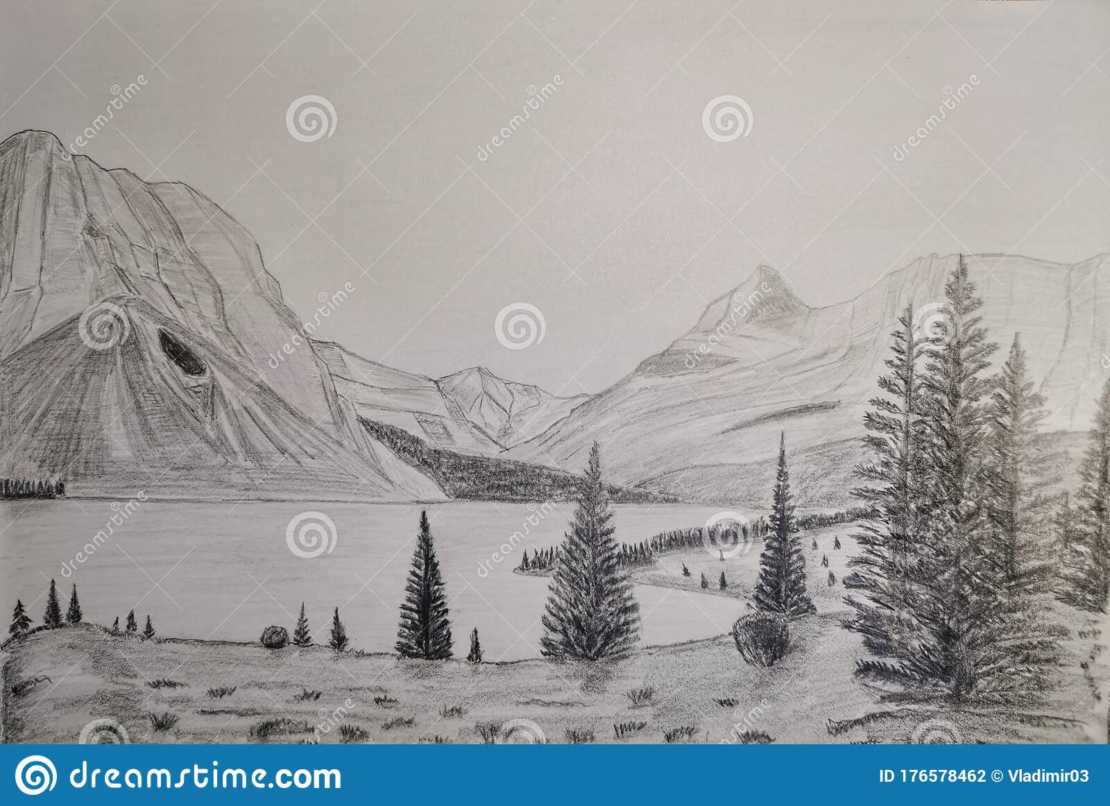 1 502 Landscape Pencil Drawing Photos Free Royalty Free Stock Photos From Dreamstime
