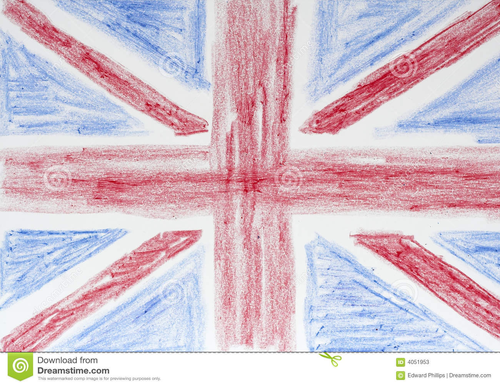 Drawing Of British Flag Stock Photos - Image: 4051953