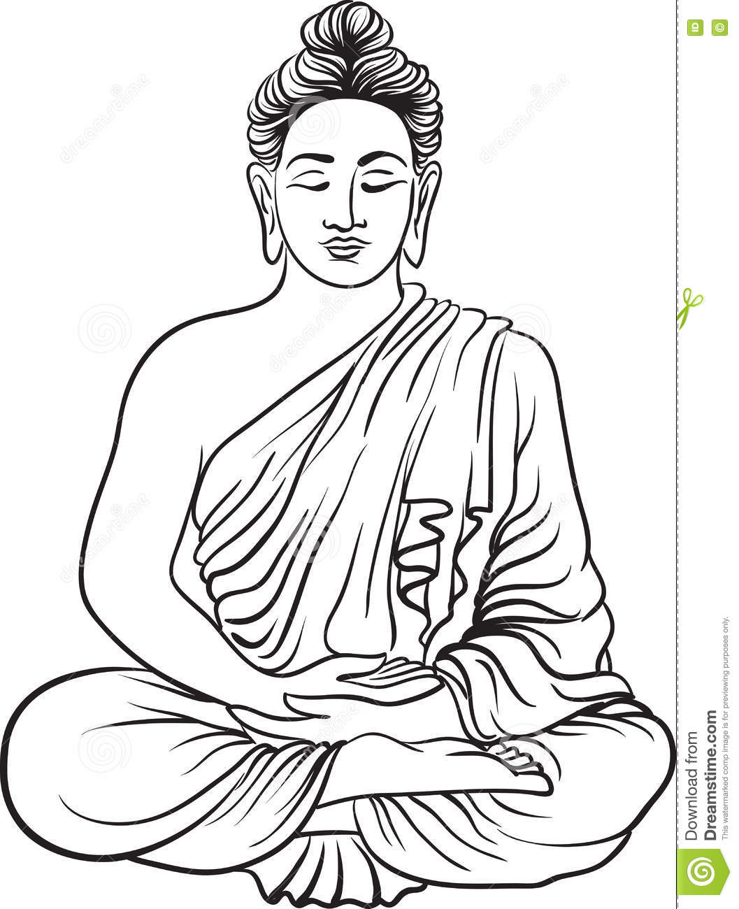 Drawing of a buddha statue stock vector illustration of illustration 80420436 - Dessin de bouddha gratuit ...