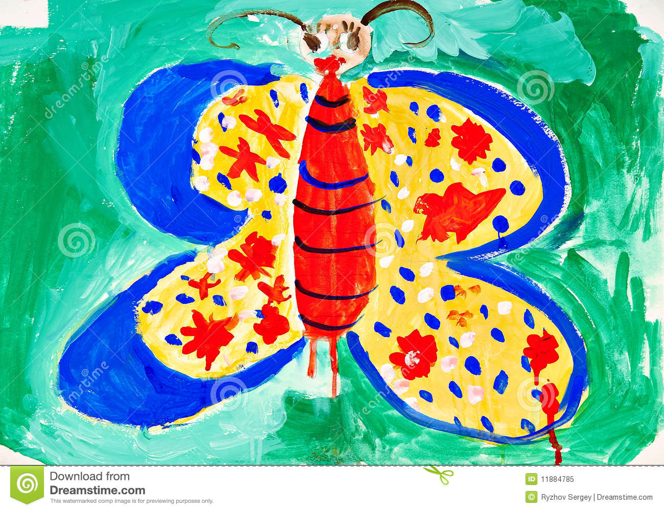 Drawing of the butterfly