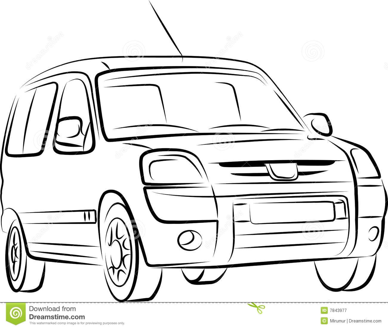 Drawing of the car stock vector. Illustration of auto - 7843977