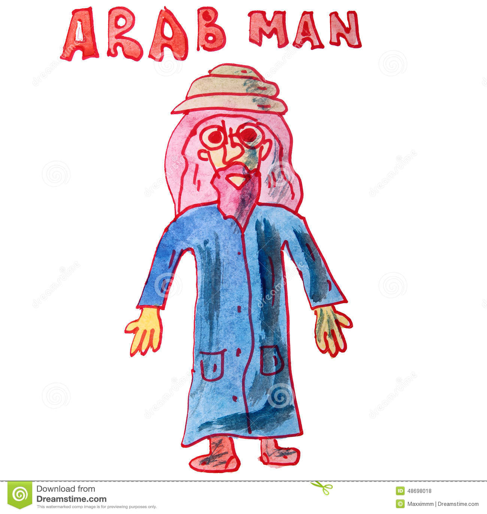 arab kids cartoon vector cartoondealercom 65514589
