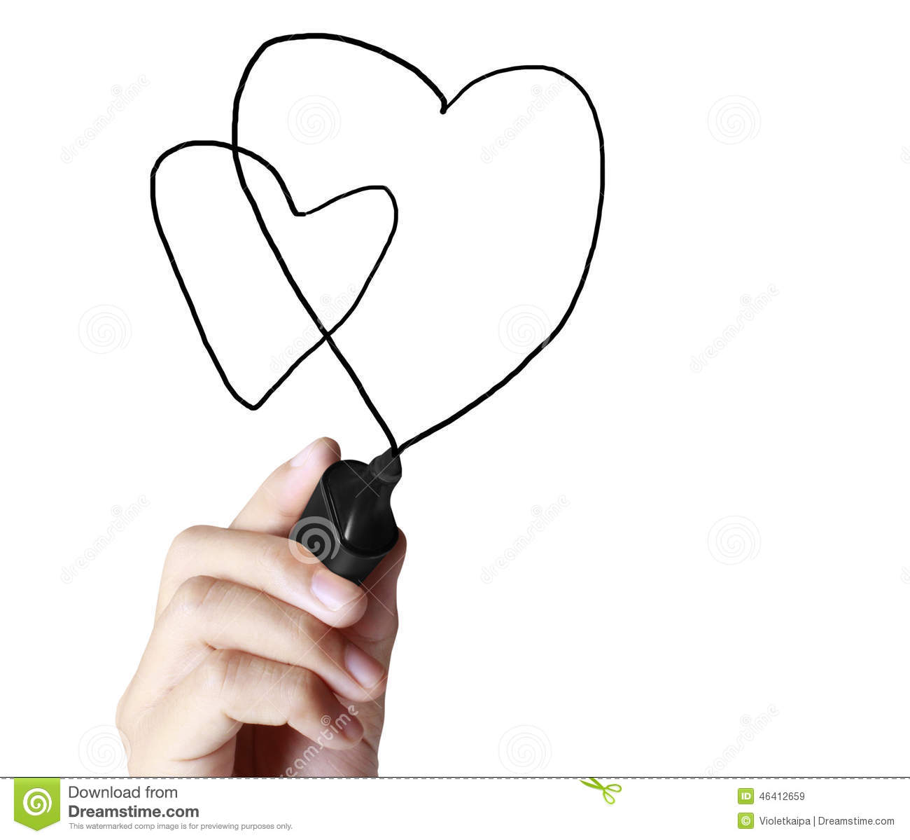 Drawing Chart Heartbeat Stock Image Image Of Cardiogram 46412659
