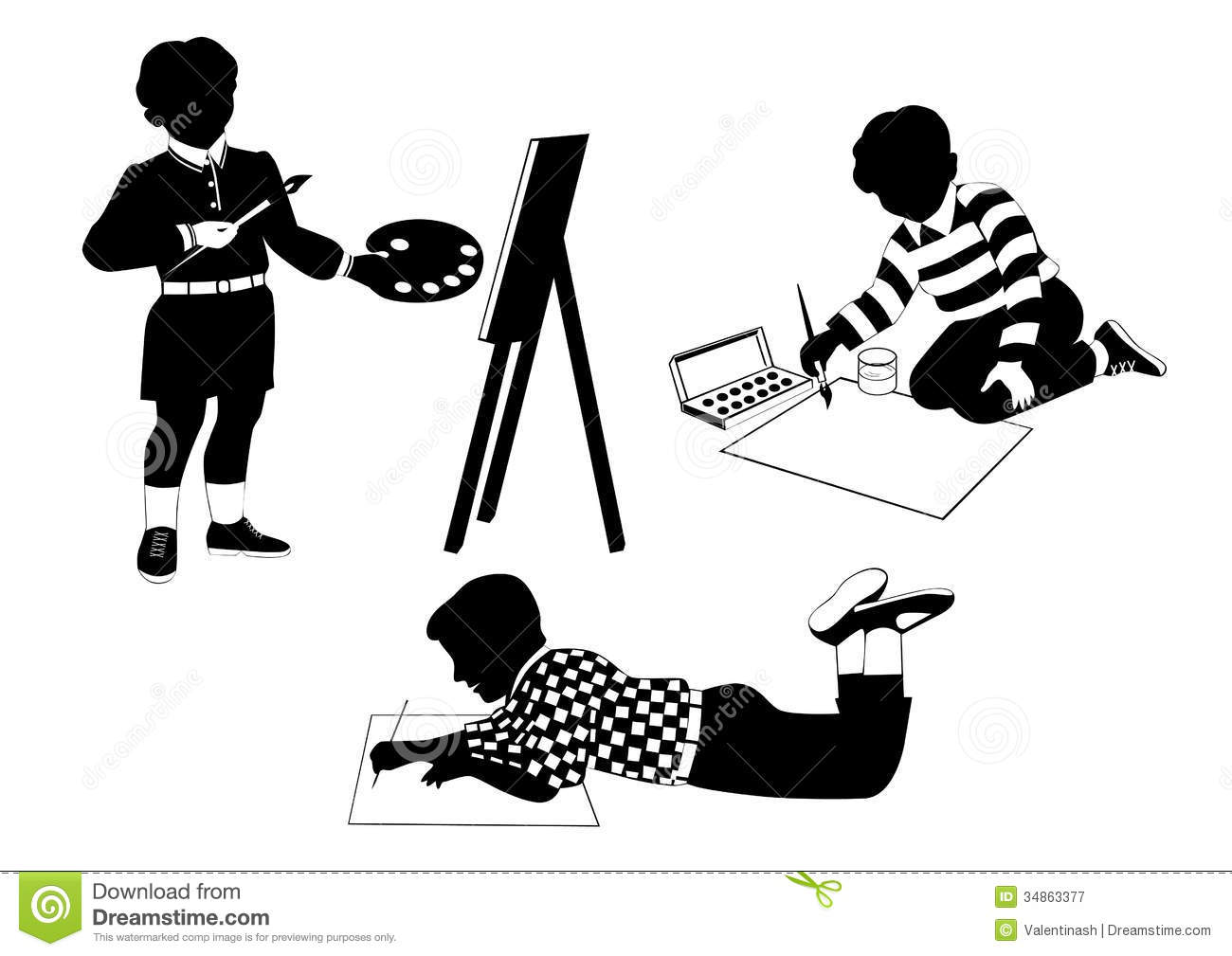 drawing of children drawing children royalty free stock photography image 8923