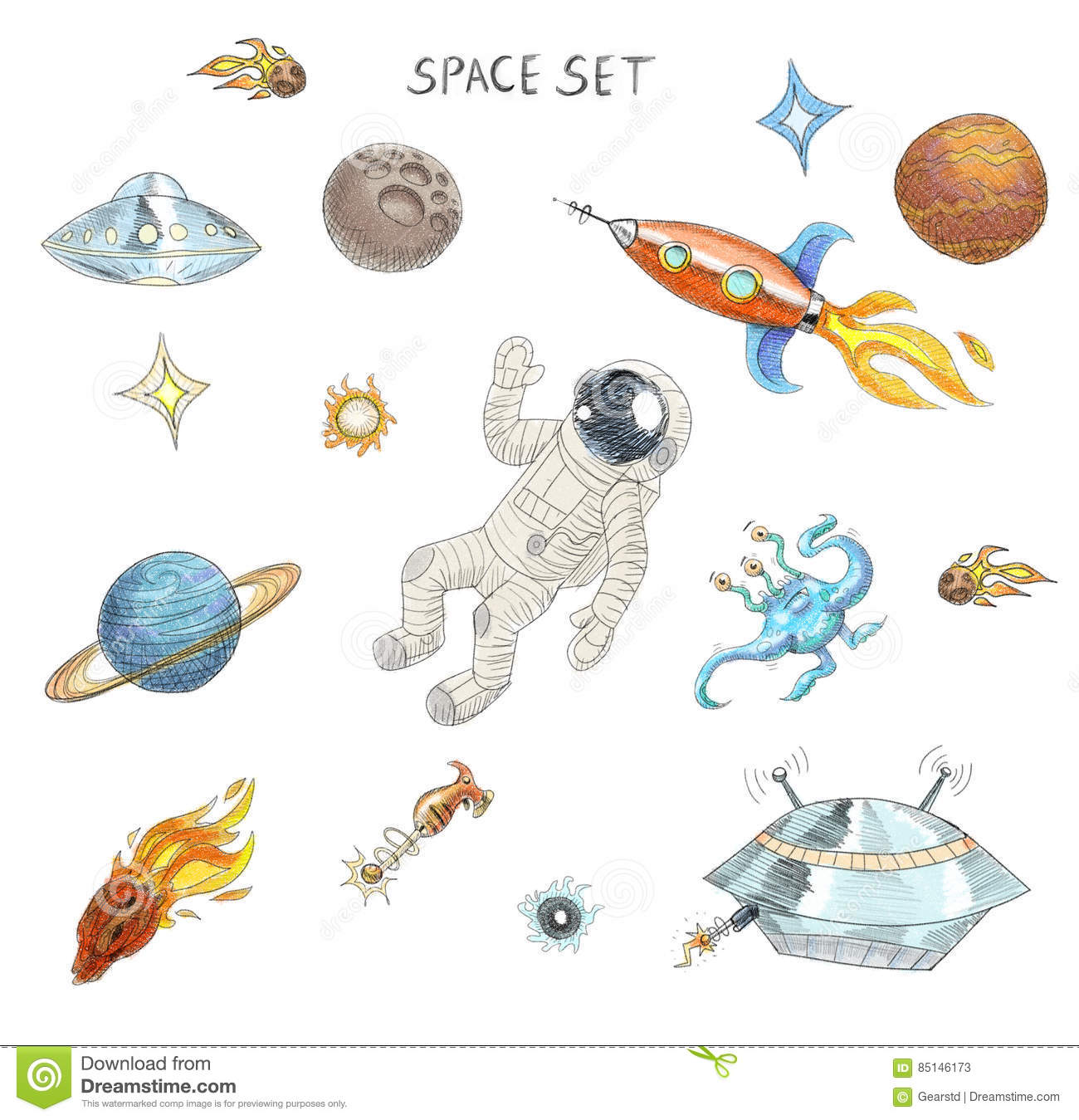 how to draw a alien spaceship