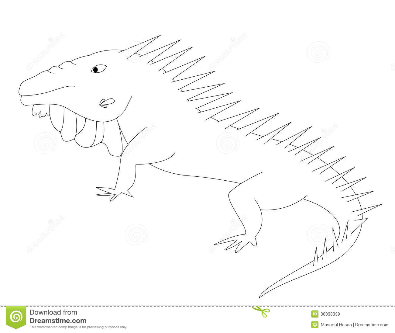 galapagos iguanas coloring pages - photo#19