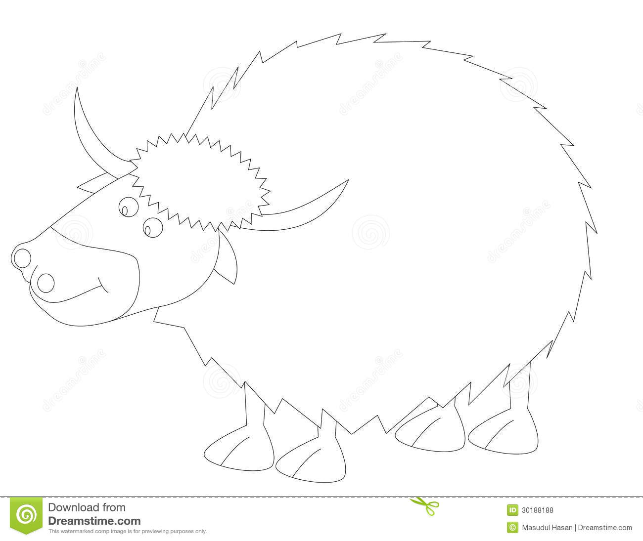 Line Drawing Yak : Y for yak royalty free stock photos image