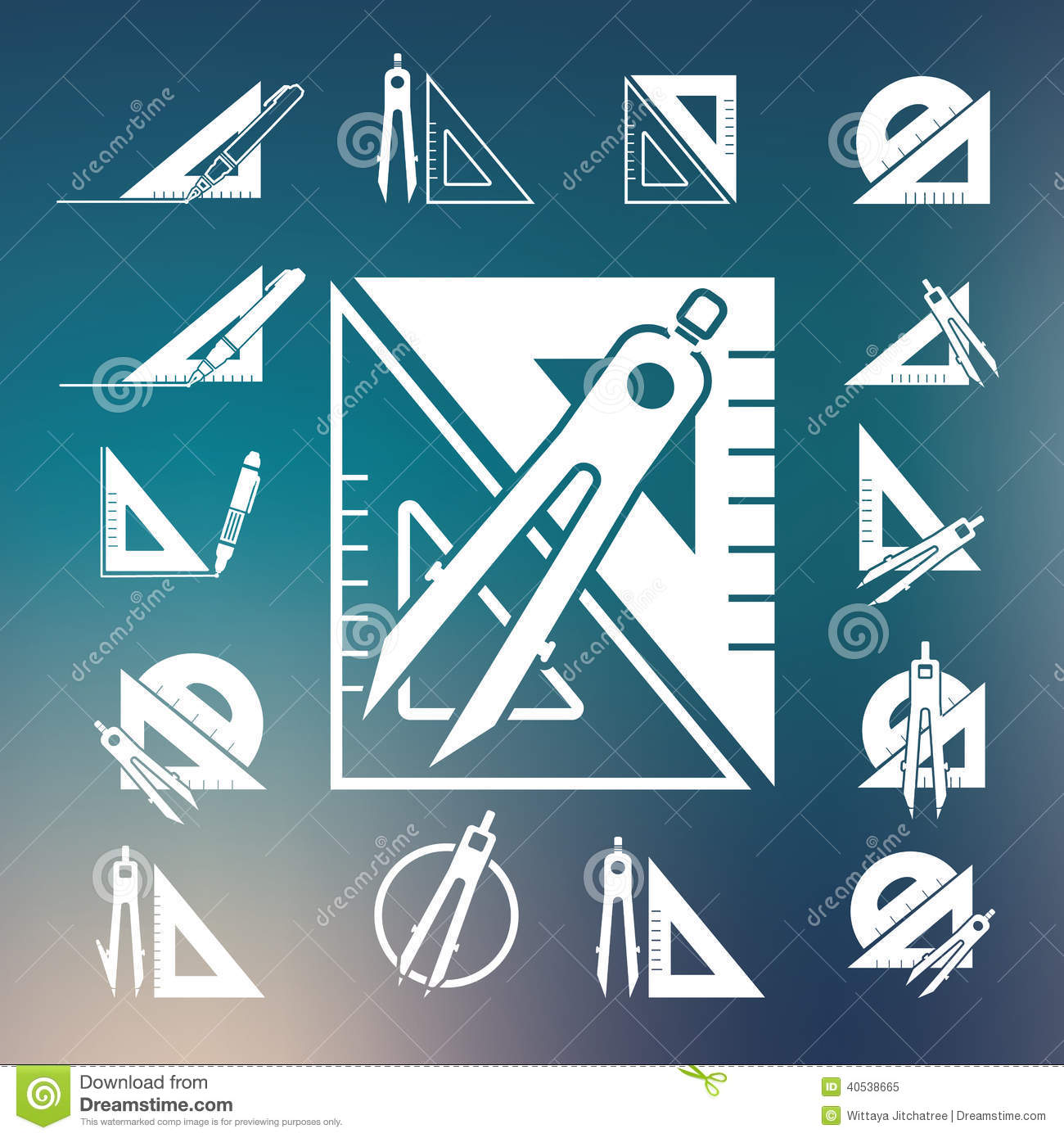 Drawing Tool Icon Set stock vector. Illustration of subtract - 26033908