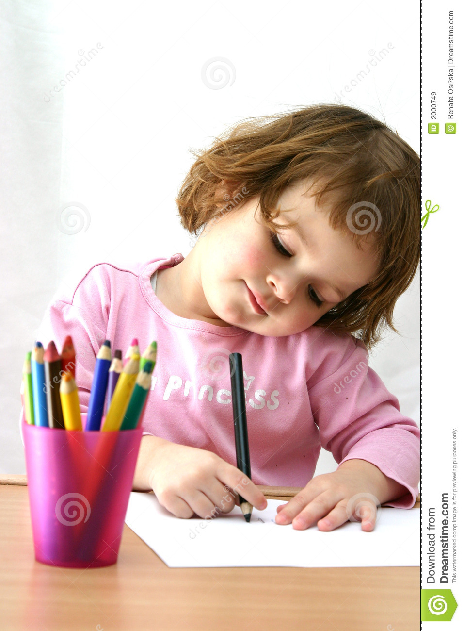 drawing with crayons stock image image of childhood imagination