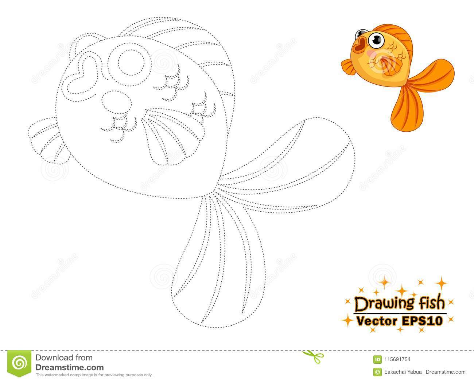 drawing cute cartoon fish color educational game ki drawing cute cartoon fish color educational game kids