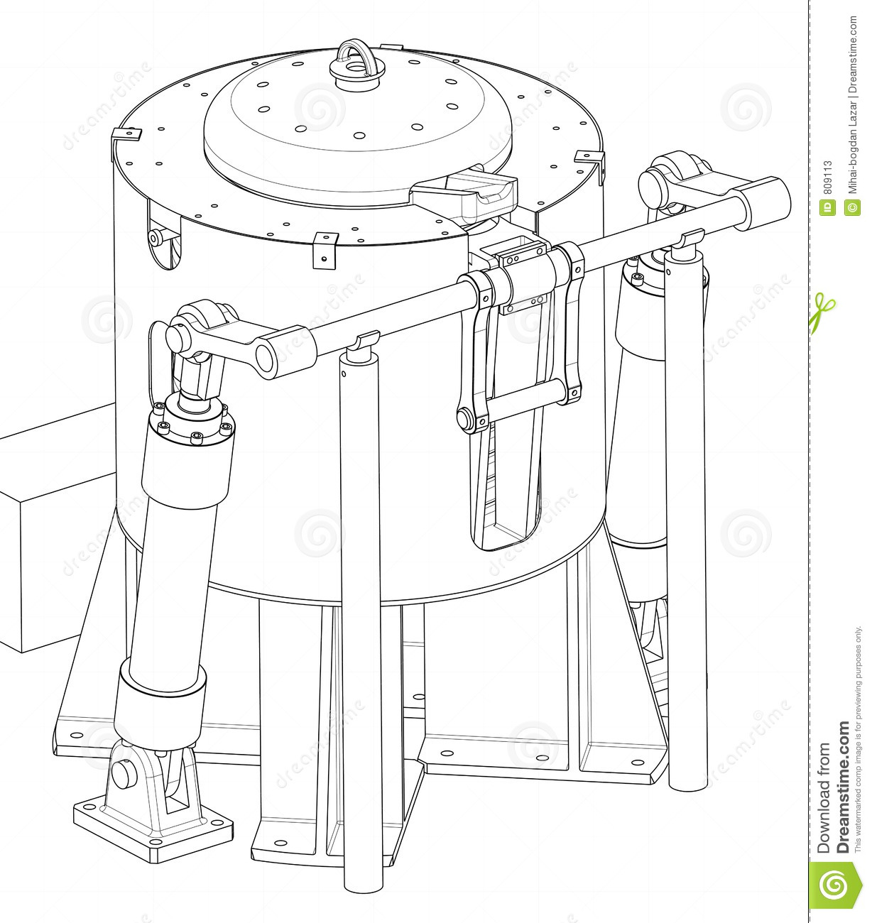Drawing of a device