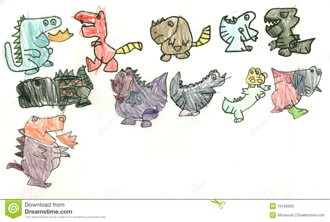 Uncategorized Kids Dinosaur Drawing drawing dinosaur royalty free stock images image 16158359 photo download dinosaur