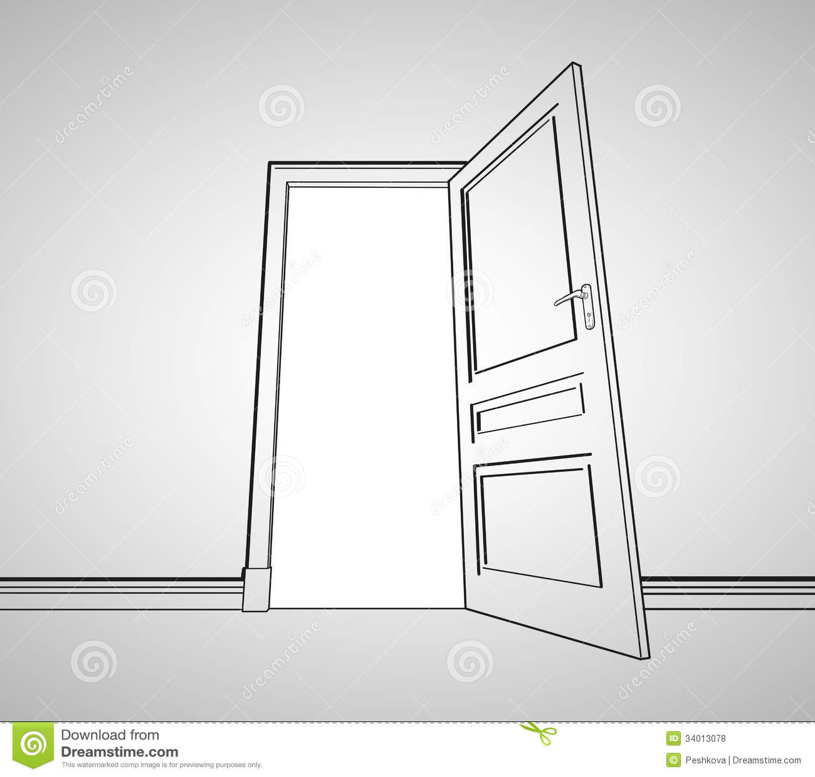 Drawing Door Royalty Free Stock Photos - Image: 34013078