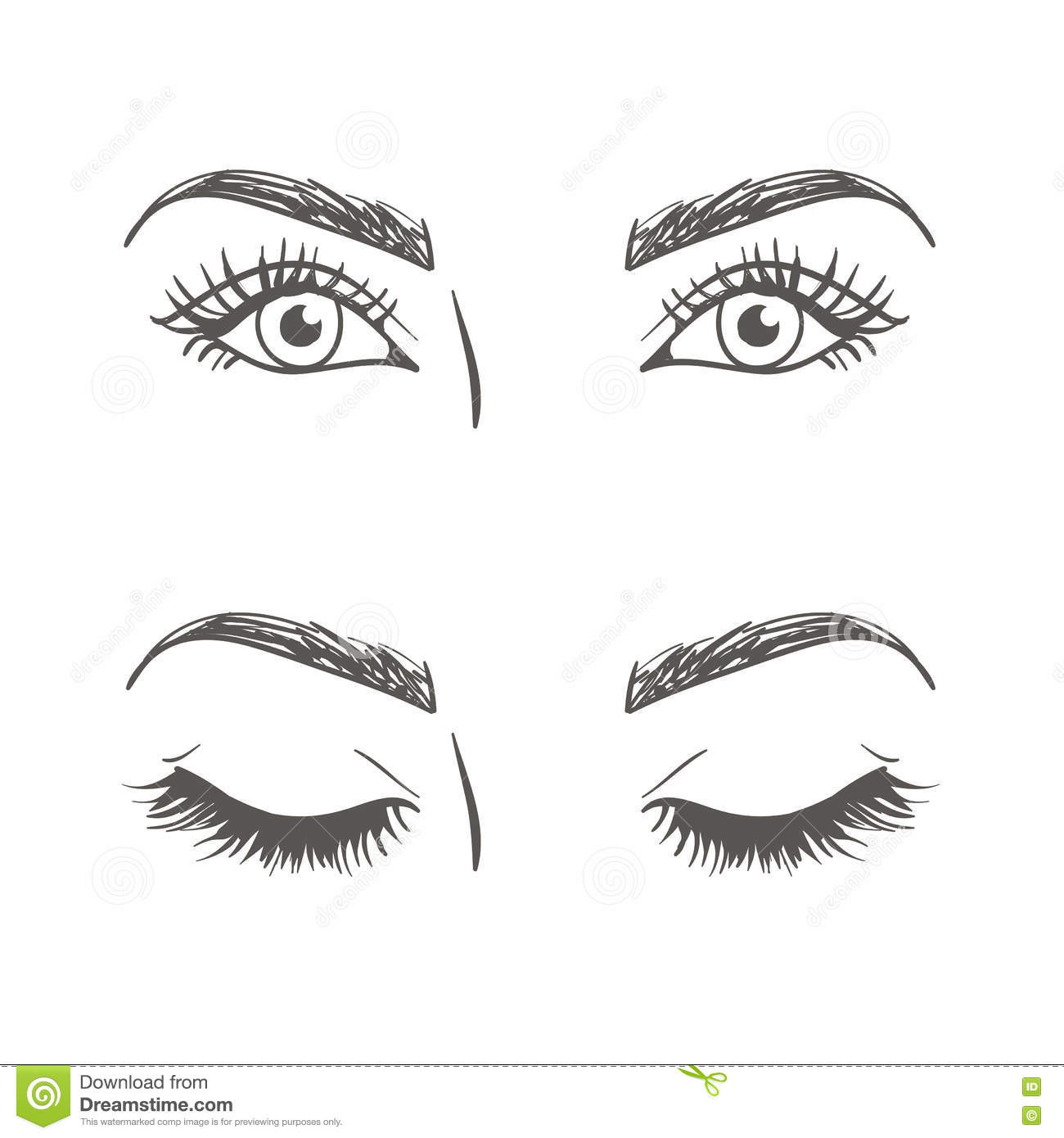 Drawing of the eye sto...