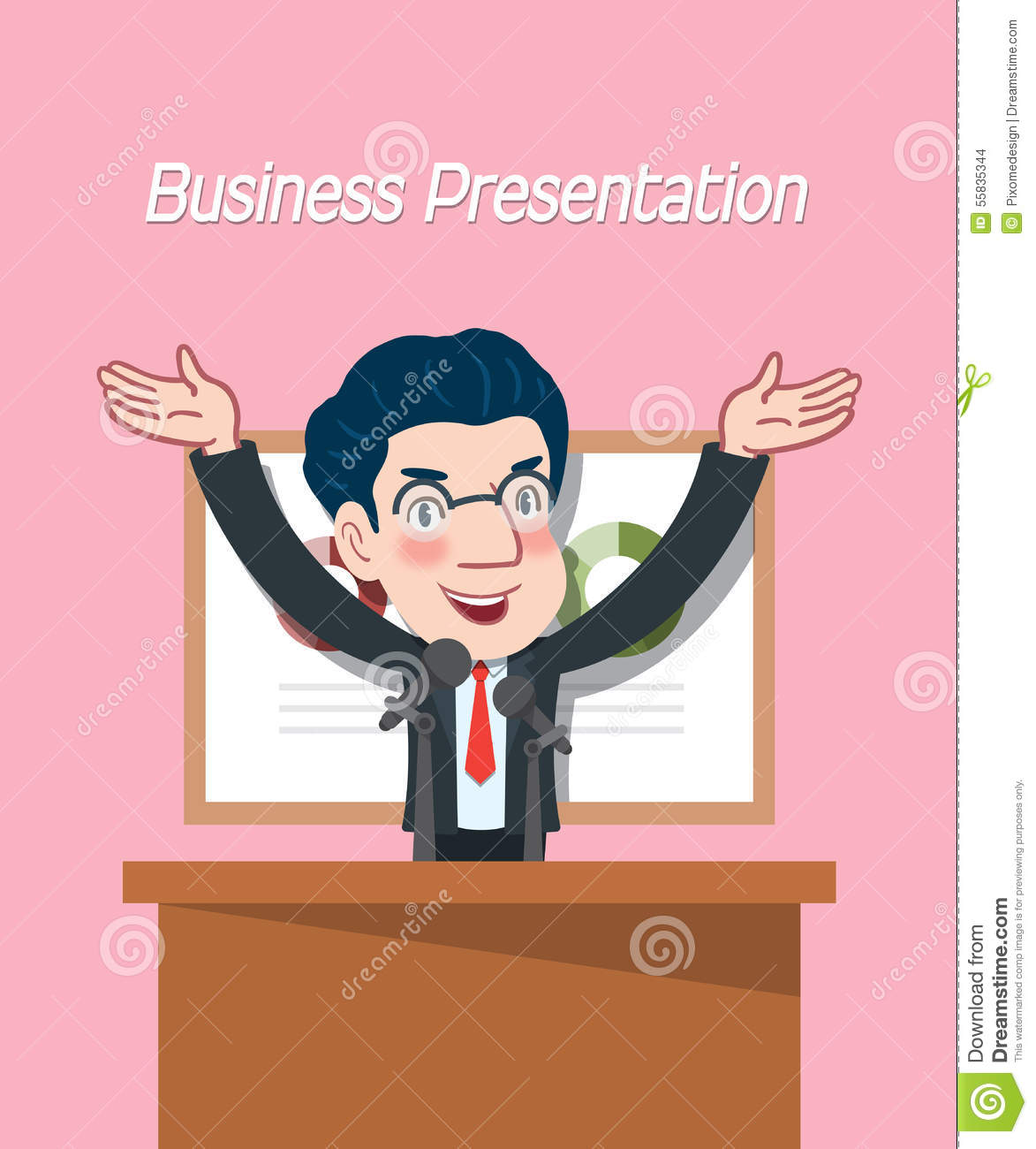 Character Design Presentation : Drawing flat character design business presentation