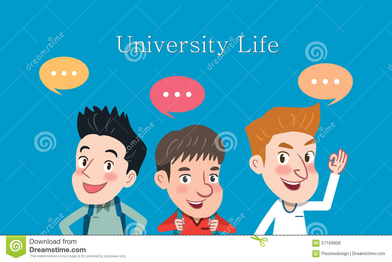 Character Design Courses University : Drawing flat character design university student concept