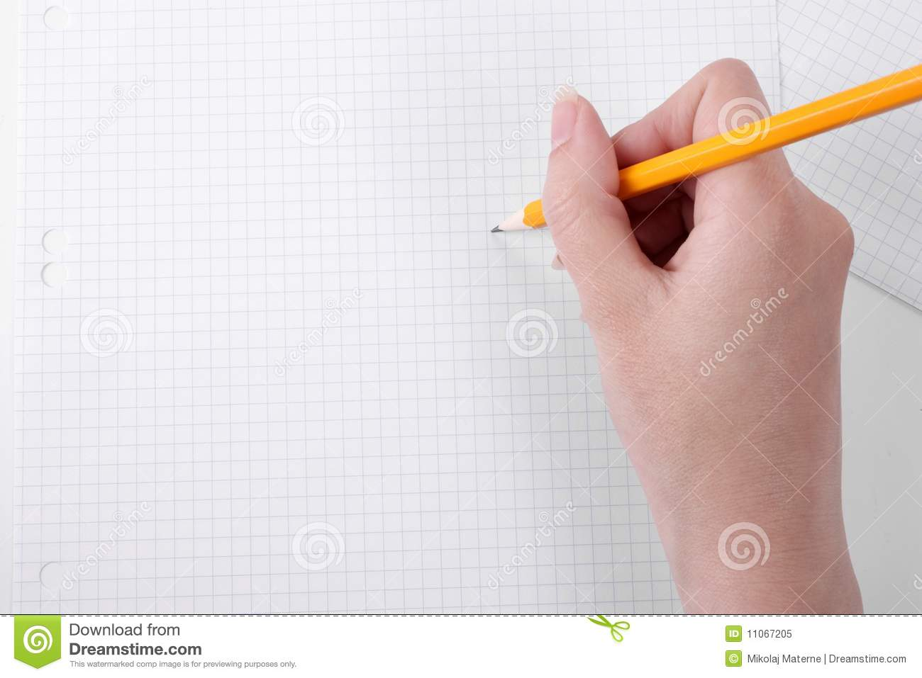 Drawing on graph paper with a pencil