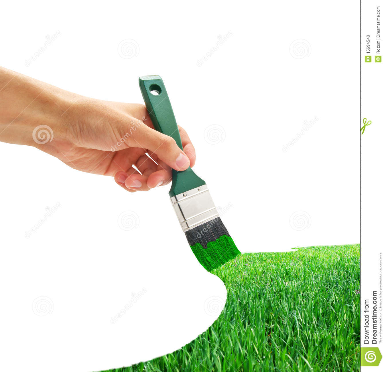 Drawing the grass