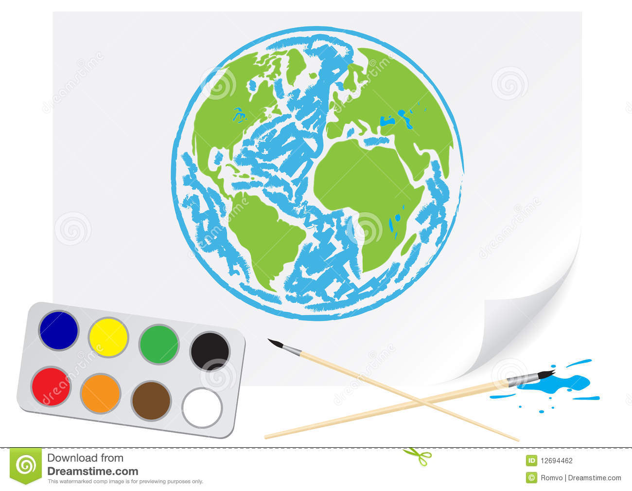 How To Draw Green Earth