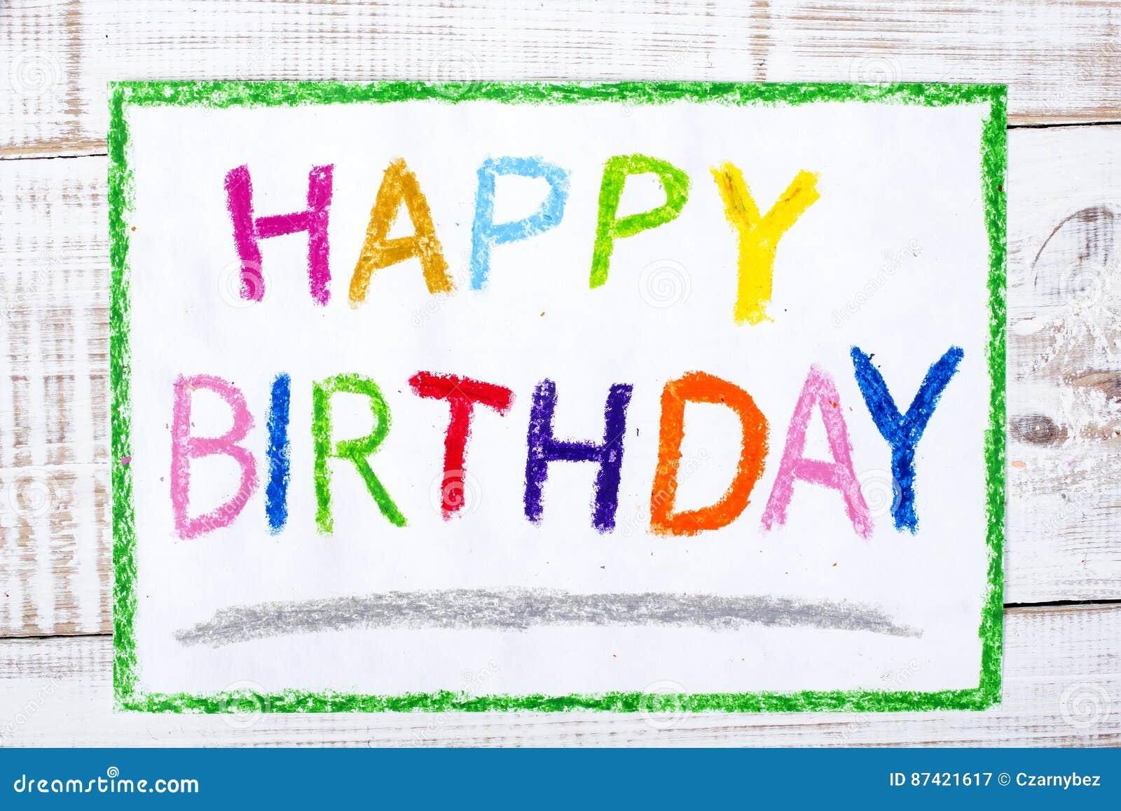 Drawing Happy Birthday Card