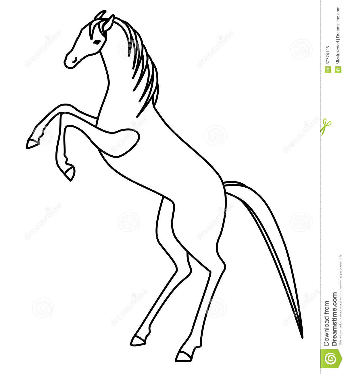 Horse Standing Hind Legs Drawing,Standing.Printable Coloring Pages ...