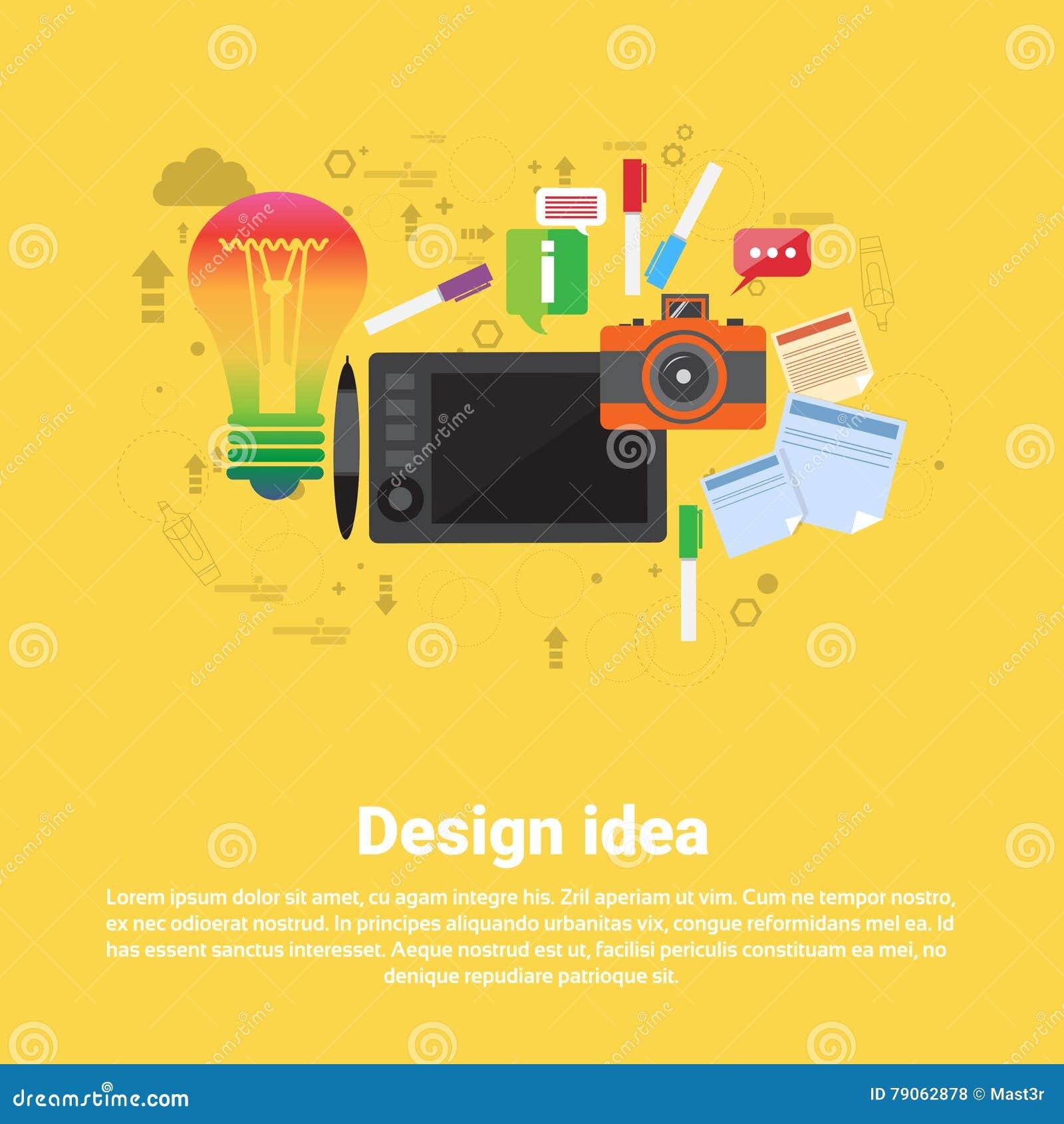 Drawing Icon Web för grafisk formgivare för designidé baner