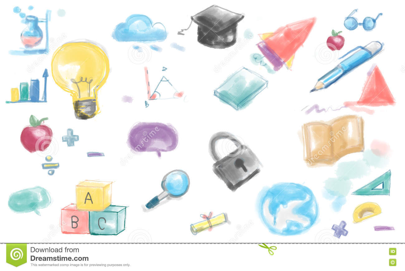 Drawing Inspiration Innovation Ideas Creative Concept Stock