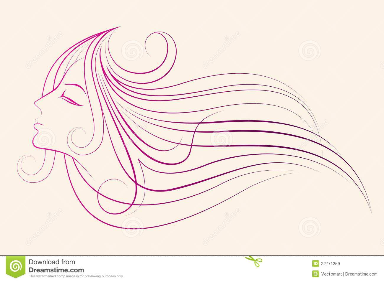 Line Drawing Lady : Drawing of lady royalty free stock images image
