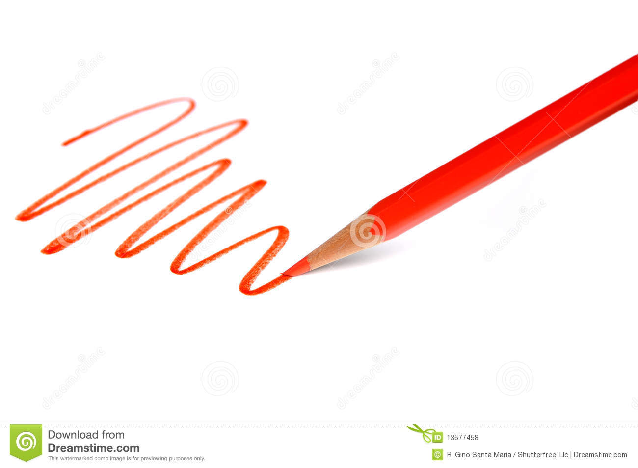 Drawing Lines With Pencil : Drawing line with red pencil royalty free stock photos