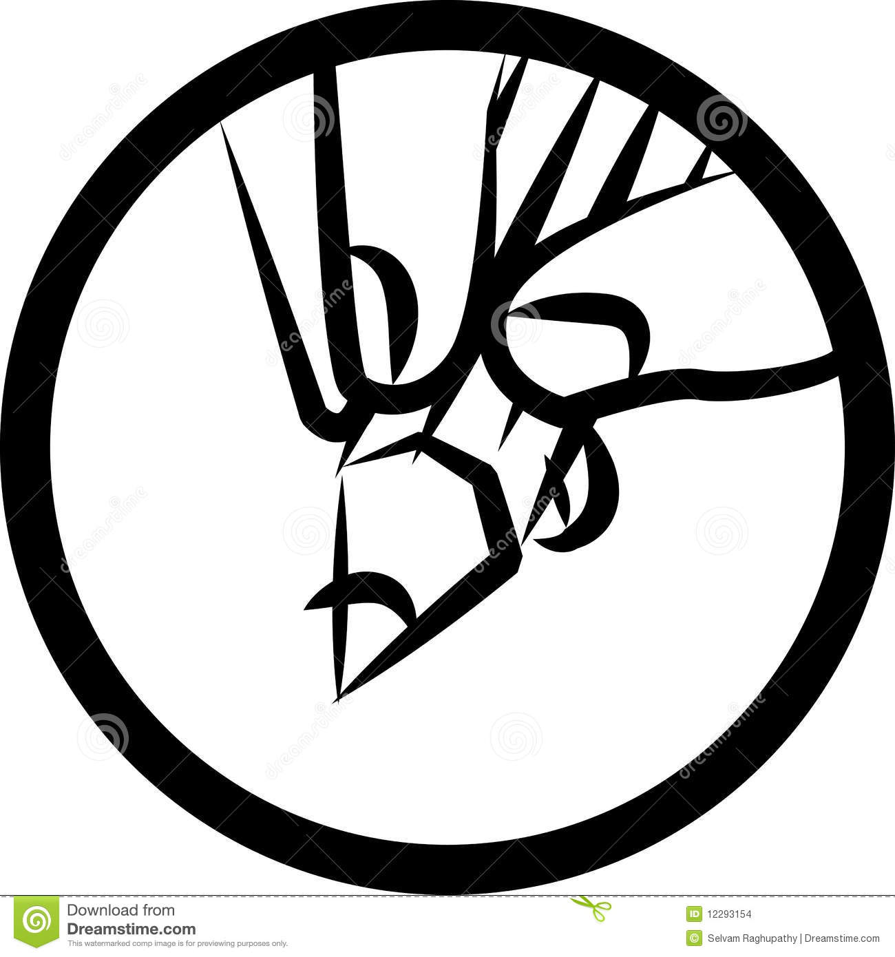 Drawing logo stock vector illustration of logo fingers for Draw my logo