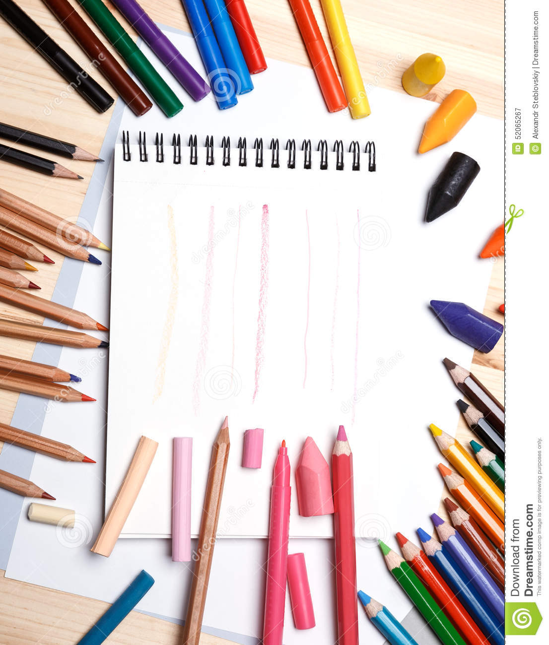 Business Office Paint Colors Drawing Materials Stock Photo Image 52065267