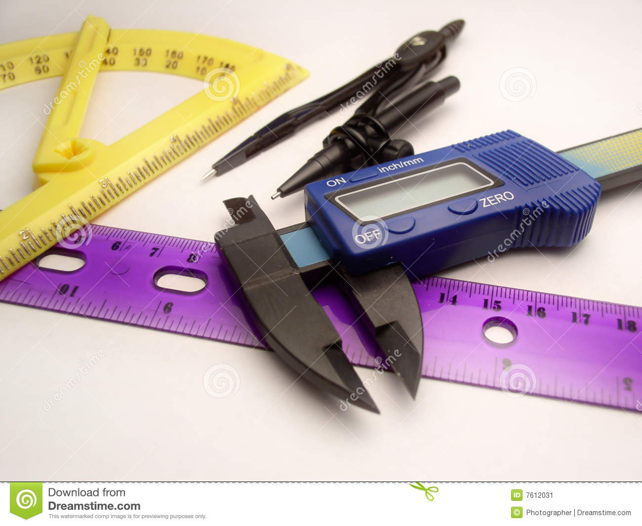drawing and measuring tools stock image image of ruler