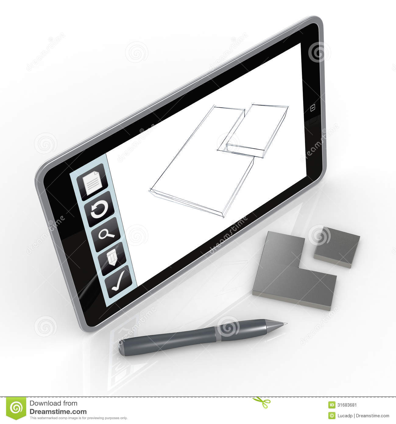 Drawing On Mobile Device Stock Image Image 31683681