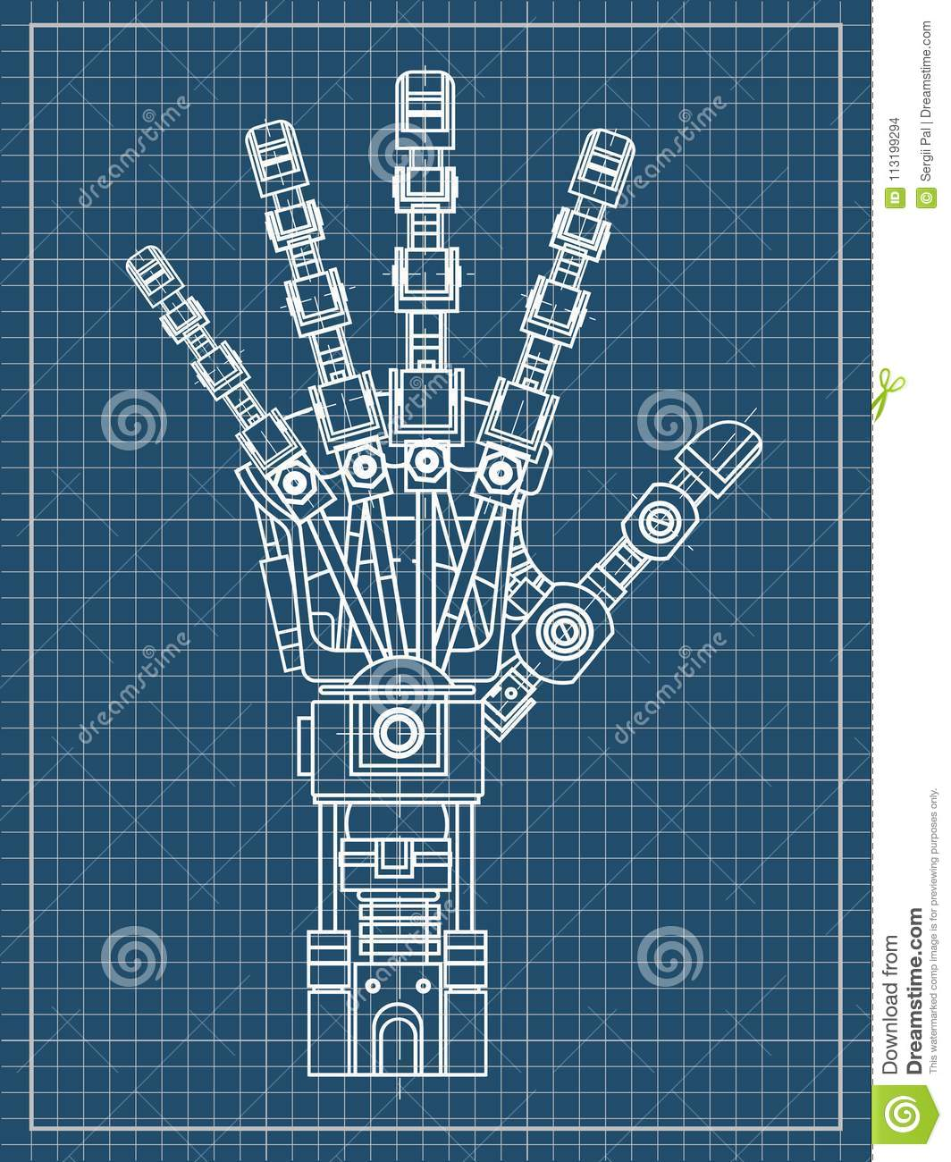 Robot Arm This Vector Illustration Be Used As An Illustration Of