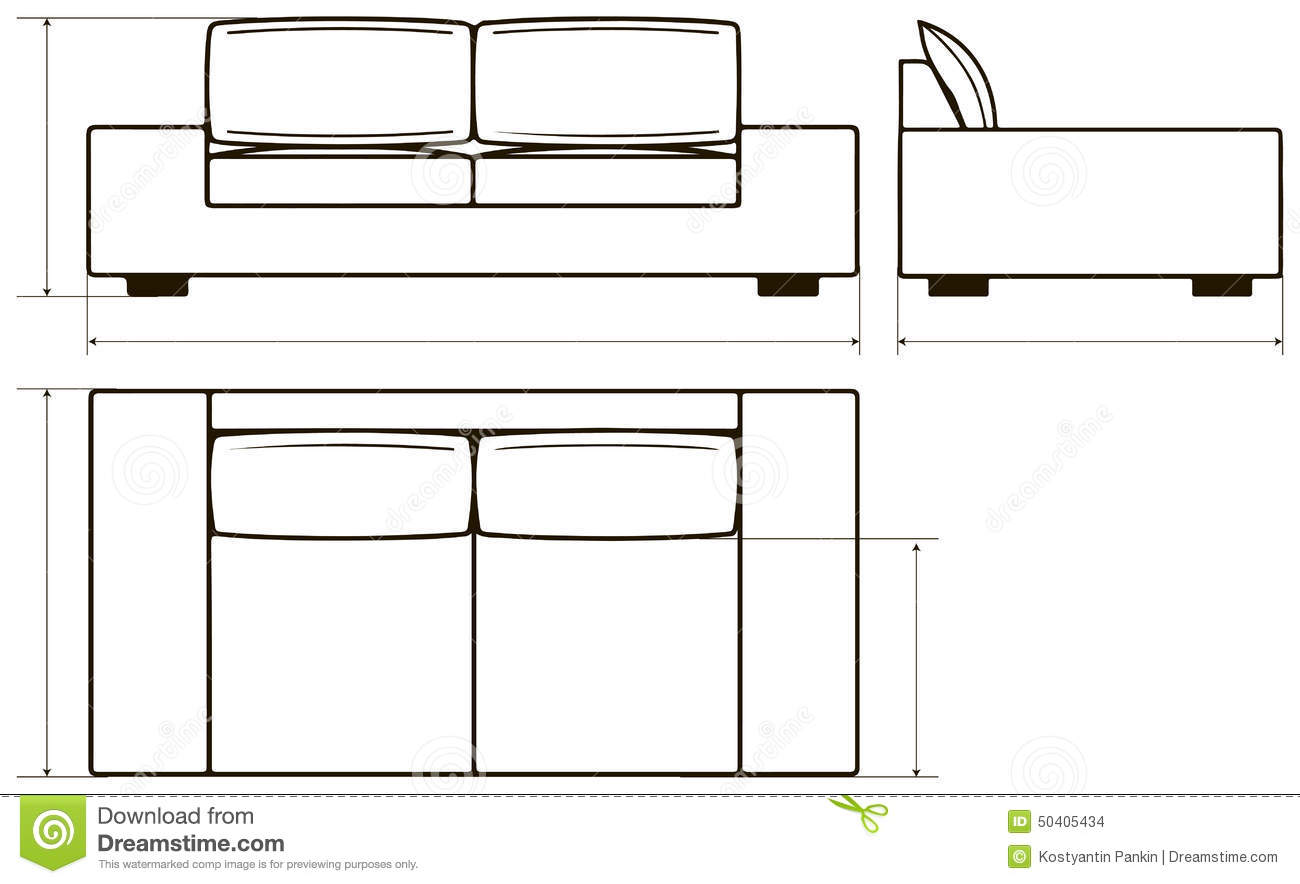 Modern Furniture Drawings impressive 20+ couch drawing design decoration of learn how to